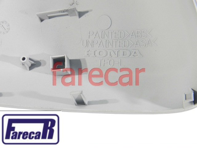 CAPA PRIMER DO ESPELHO RETROVISOR SEM PISCA HONDA NEW FIT 2009 A 2013 09 10 11 12 13 2010 2011 2012  - Farecar Comercio
