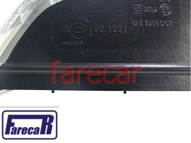 Pisca da Capa do Espelho Retrovisor Golf 2008 a 2011  Polo 2007 a 2011 07 08 09 10 11 2009 2010  - Farecar Comercio