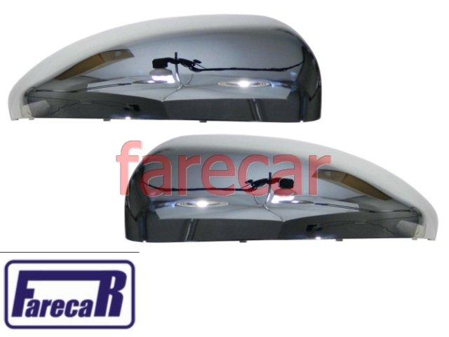 PAR DE CAPA CROMADA DO ESPELHO RETROVISOR GM CRUZE LT LTZ SPORT6 2011 2012 2013 11 12 13  - Farecar Comercio