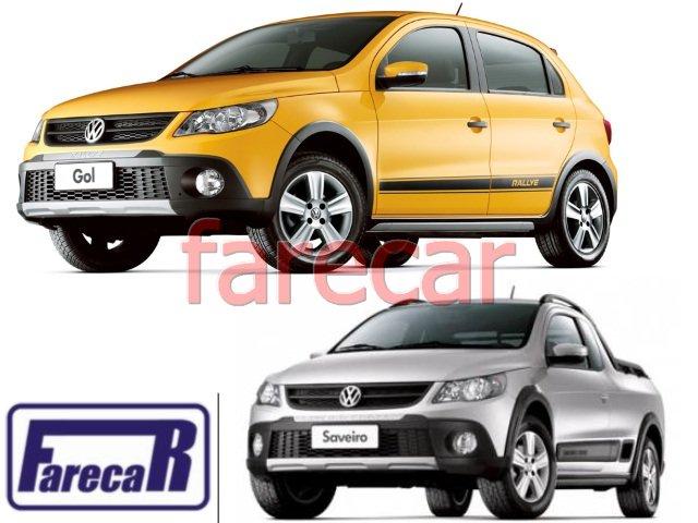 MOLDURA GRADE FAROL DE MILHA PARACHOQUE VW GOL RALLYE G5 2008 A 2012 E SAVEIRO CROSS G5 2008 A 2012  - Farecar Comercio