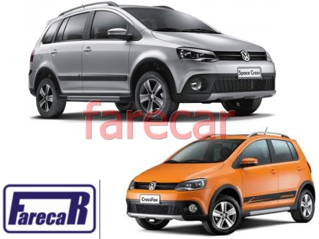 MOLDURA GRADE DO FAROL DE MILHA DO PARACHOQUE VW CROSSFOX 2010 A 2014 VW SPACECROSS 2011 A 2014 - 10 11 12 13 14 2012 2013  - Farecar Comercio