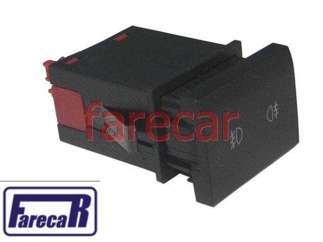 BOTAO INTERRUPTOR FAROL MILHA E LUZ NEBLINA VW FOX 2010 A 2012 SPACEFOX CROSSFOX SPACECROSS 2010 A 2012 10 11 12 2011  - Farecar Comercio