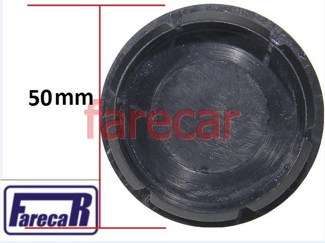 CALOTA 50 mm TAMPA MIOLO DA RODA LOGO AZUL FIAT TODOS  - Farecar Comercio