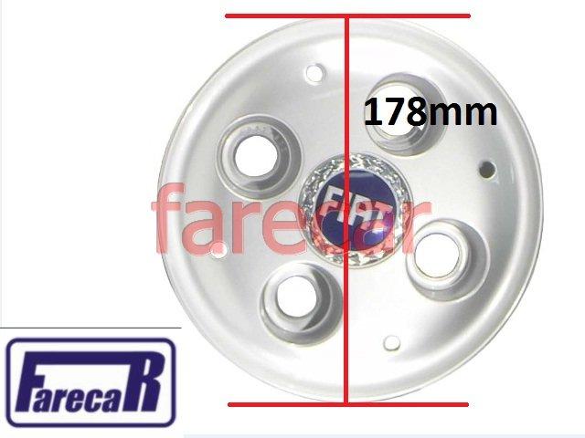 CALOTA COM LOGO AZUL FIAT STRADA  - Farecar Comercio