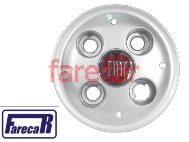CALOTA COM LOGO VERMELHO FIAT STRADA  - Farecar Comercio