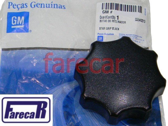 MANOPLA ROLDANA PRETA DE REGULAGEM DO BANCO ORIGINAL GM CORSA CLASSIC ASTRA  VECTRA KADETT  - Farecar Comercio
