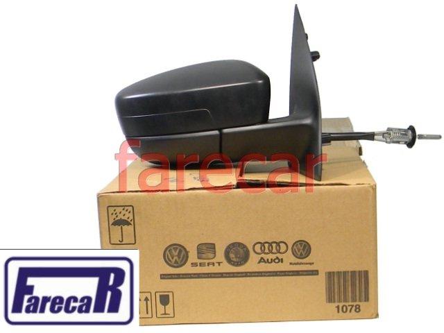 ESPELHO RETROVISOR LADO DIREITO COM CONTROLE ALAVANCA ORIGINAL METAGAL VW GOL G5 2008 A 2011 VOYAGE G5 2008 A 2011 - 08 09 10 11 2009 2010  - Farecar Comercio