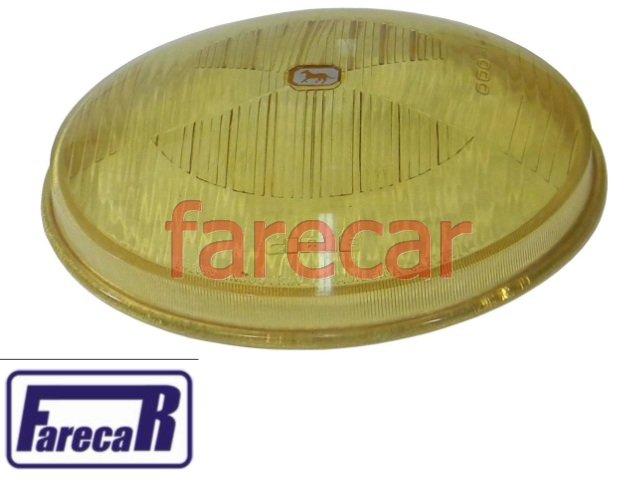 LENTE AMARELA FAROL ORIGINAL CIBIE VW FUSCA 1973 A 1975  - Farecar Comercio
