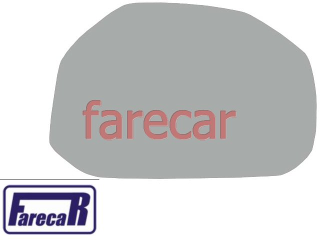 SUBCONJUNTO LENTE DE VIDRO COM BASE DO ESPELHO RETROVISOR FIAT IDEA ADVENTURE 2006 A 2010 - 06 07 08 09 10 2007 2008 2009 - Farecar Comercio