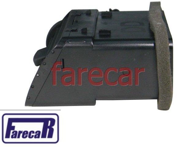 grade difusor de ar preto lado direito da moldura do painel com roldana regulagem  VW Gol G3 1999 a 2003 99 00 01 02 03 2000 2001 2002  - Farecar Comercio