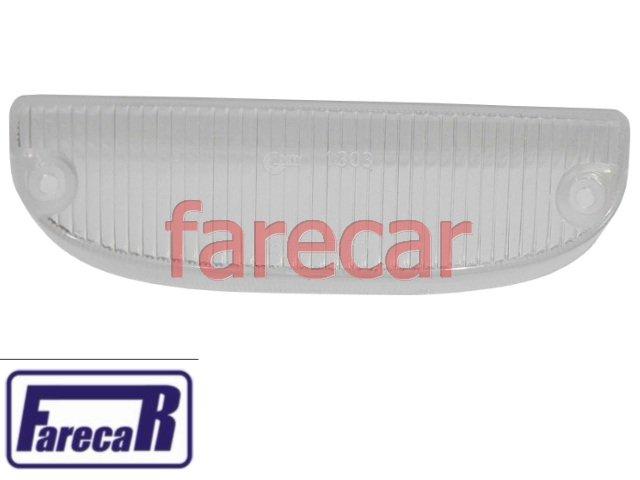 lente cristal da lanterna dianteira pisca seta GM Chevette 1973 a 1982 Marajo  - Farecar Comercio