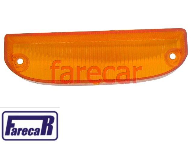 lente ambar da lanterna dianteira pisca seta GM Chevette 1973 a 1982 Marajo  - Farecar Comercio