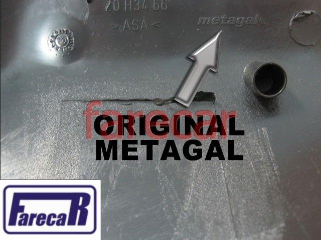 CAPA PRETA FOSCA TEXTURIZADA ORIGINAL METAGAL DO ESPELHO RETROVISOR GM ASTRA 1999 A 2012  - Farecar Comercio