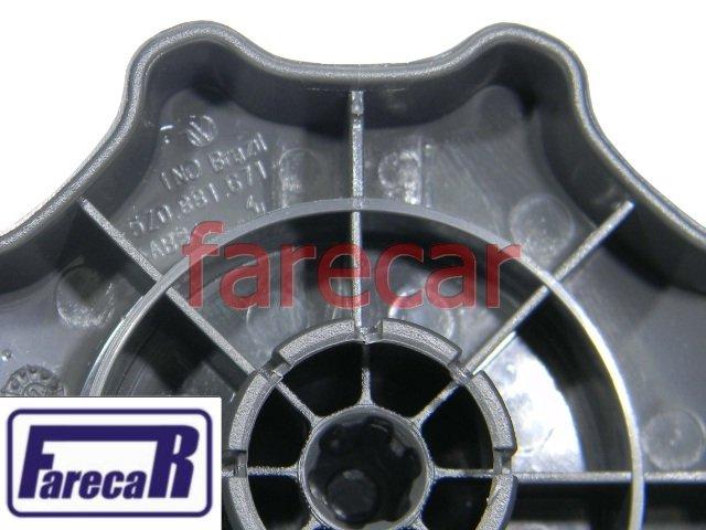 manopla cinza grafite roldana banco original Vw Gol G5 Saveiro G5 Fox  - Farecar Comercio