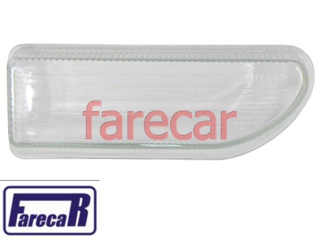 lente de vidro lisa com risco do farol milha neblina do parachoque Vw Gol bola G2 1995 a 1999  - Farecar Comercio
