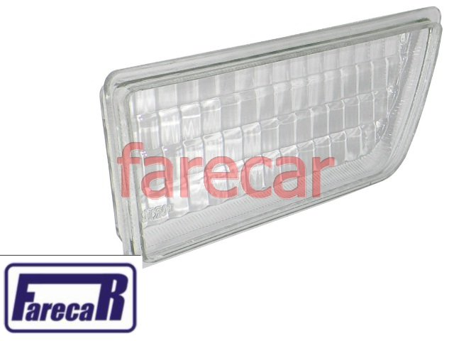 lente de vidro do farol milha neblina do parachoque Vw Gol 1987 a 1994  - Farecar Comercio