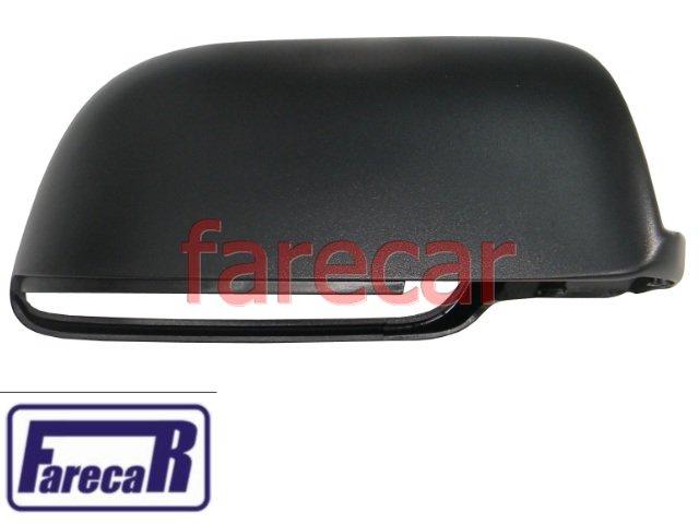 capa preta espelho retrovisor sem pisca Vw Polo 2003 a 2010 - 03 04 05 06 07 08 09 10  2004 2005 2006 2007 2008 2009  - Farecar Comercio