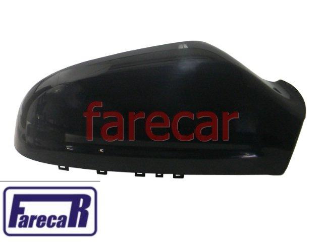 capa preta lisa de cobertura do espelho retrovisor sem pisca Gm Vectra 2006 a 2009 06 07 08 09 2007 2008  - Farecar Comercio
