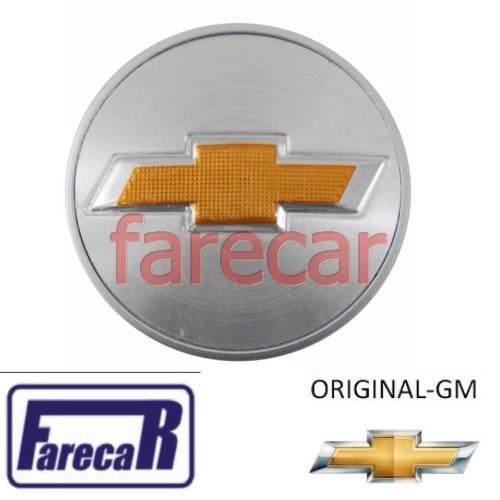 Calota 59mm Tampa Miolo Roda logo Gm dourado Vectra Onix Spin Prisma Cobalt  - Farecar Comercio