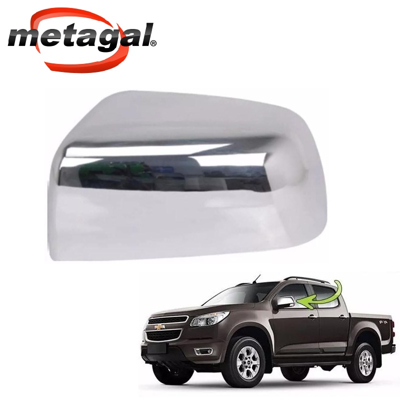 capa cromada do espelho retrovisor original metagal Gm S10 2013 2014 2015 2016 2017 Trailblazer 2013 2014 2015 2016 2017 13 14 15 16 17  - Farecar Comercio