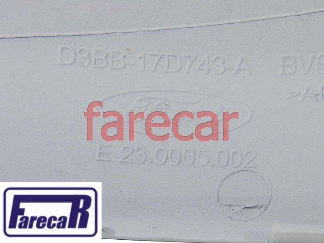 Capa primer com pisca do espelho retrovisor Ford New Fiesta 2013 2014 2015 2016 2017 13 14 15 16 17  - Farecar Comercio