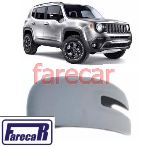 Capa Primer para Pintura do Espelho Retrovisor Jeep Renegade 2015 2016 2017 15 16 17  - Farecar Comercio