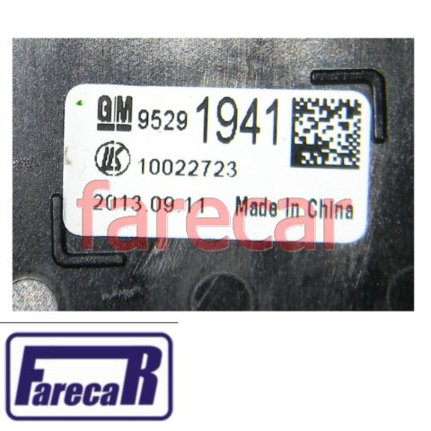 chave comando regula farol luz neblina e botao farol milha 12 pinos  Gm Spin GM Tracker 2014 2015  - Farecar Comercio