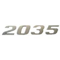 EMBLEMA 2035 CROMADO - Cod. 6418172515  - Farecar Comercio