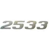 EMBLEMA 2533 CROMADO - Cod. 6418173315  - Farecar Comercio