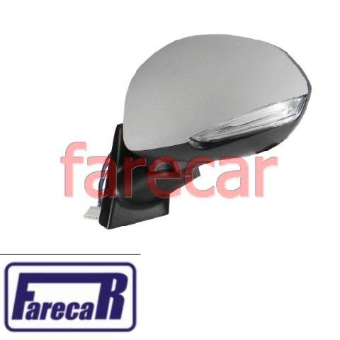 espelho retrovisor eletrico com pisca original Metagal Fiat Idea 2011 2012 2013 2014 2015 11 12 13 14 15  - Farecar Comercio