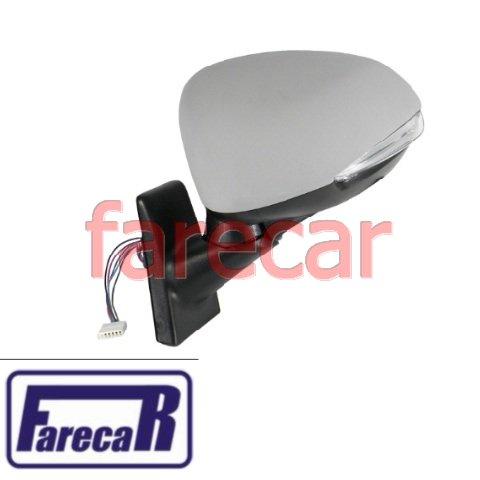 Espelho retrovisor eletrico com sensor de temperatura com pisca lado esquerdo Fiat Idea 2011 2012 2013 2014 2015 2016 11 12 13 14 15 16  - Farecar Comercio