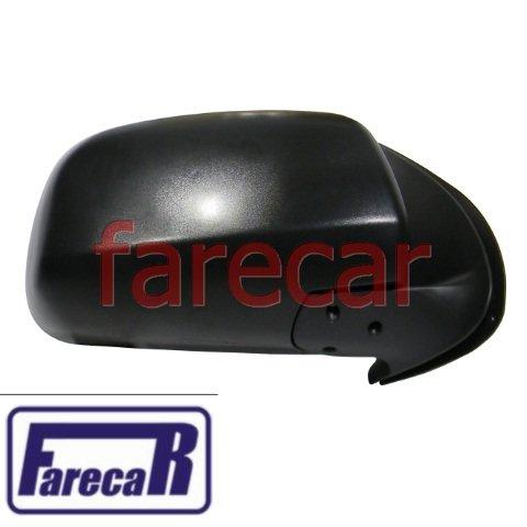 ESPELHO RETROVISOR PRETO SEM CONTROLE INTERNO TOYOTA HILUX 2005 A 2011 05 06 07 08 09 10 11  - Farecar Comercio