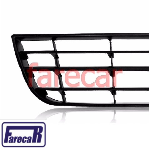 Moldura Grade Central Inferior do Parachoque Dianteiro Original Vw Polo 2007 2008 2009 2010 2011  - Farecar Comercio