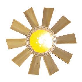 HELICE VENTILADOR (PLASTICA) 10 PAS 34MM - Cod. 3432001023  - Farecar Comercio