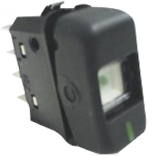 INTERRUPTOR 24V PRETO - Cod. 3865457514  - Farecar Comercio