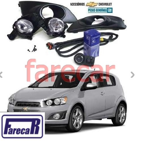 Kit Farol Milha Novo Sonic 2016 15 14 Hatch Sedan Original  - Farecar Comercio