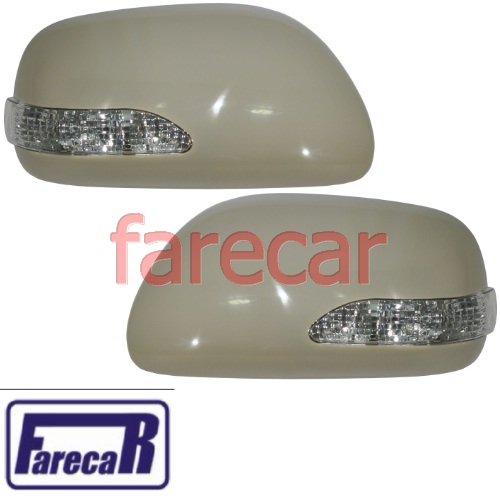 Kit par de capa com pisca  espelho retrovisor Toyota Corolla Corola 2009 2010 2011 2012 2013 09 10 11 12 13  - Farecar Comercio