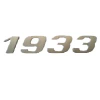 MBB EMBLEMA 1933 CROMADO - Cod. 3818176115  - Farecar Comercio