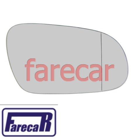subconjunto lente de vidro espelho asferico com base retrovisor Ficosa Vw Fox Crossfox Spacefox 2003 2004 2005 2006 2007 2008 2009 03 04 05 06 07 08 09  - Farecar Comercio