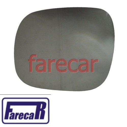 subconjunto lente de vidro espelho com base retrovisor Fiat Fiorino 2014 2015 2016 14 15 16  - Farecar Comercio