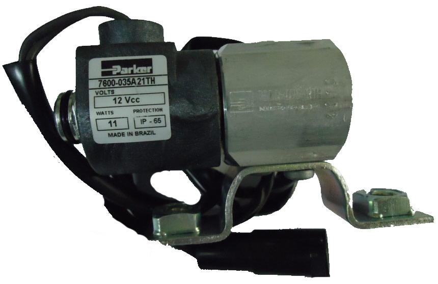 VALVULA SOLENOIDE 12V - 1/4 NPT - 1050mm - Cod. 2SP901015  - Farecar Comercio