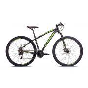 Bicicleta Oggi Hacker Sport aro 29 21v Preto/Verde