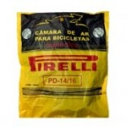 Câmara de Ar Pirelli Aros 14/16 Válvula Americana 33mm  (Bico Grosso)
