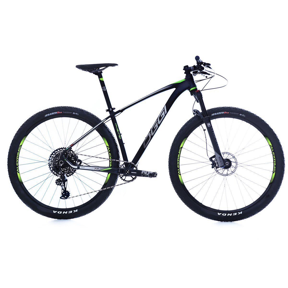 BICICLETA 29 OGGI BIG WHEEL 7.5 NX Eagle 12V 2020 PTO/VERD/GRAFT