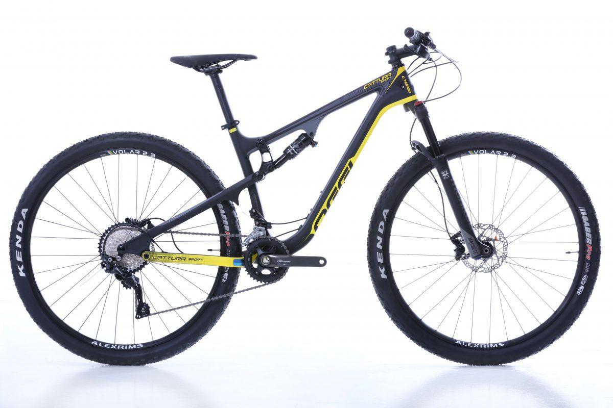 Bicicleta 29 Oggi Cattura  Sport  Full Susp Deore  2019 AMARELO