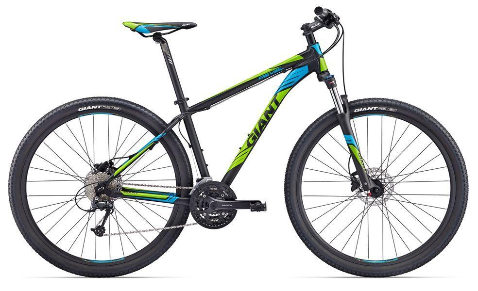 Bicicleta Giant Revel 1 -  29er - Preta/verde