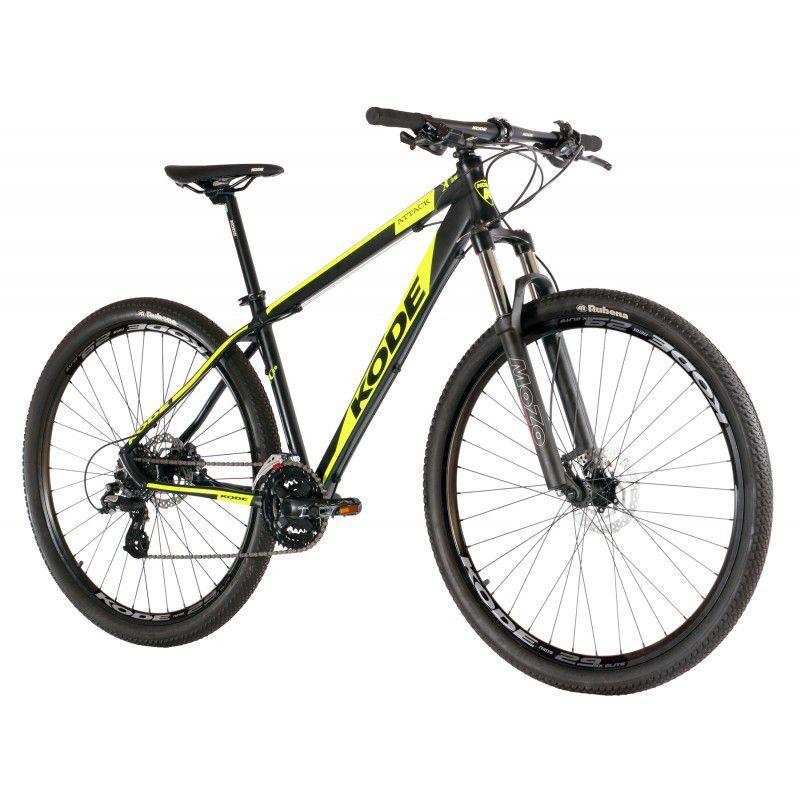 Bicicleta Kode Attack  aro 29  24v Preto/Amarelo