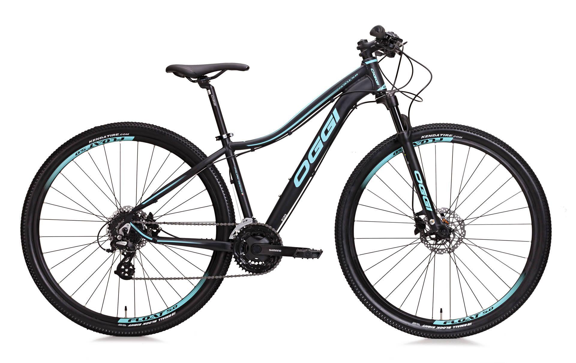 Bicicleta MTB Feminina Oggi Float 5.0 Preto/Azul