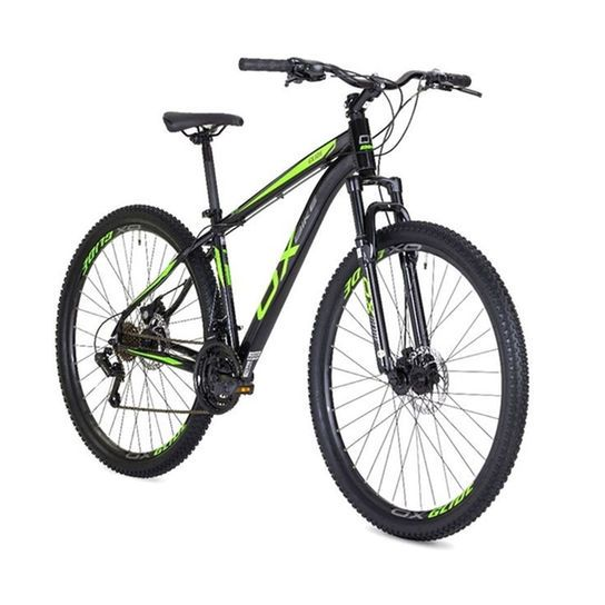Bicicleta Mtb Ox Bike Aro 29 Hard Glide - Preto e Verde