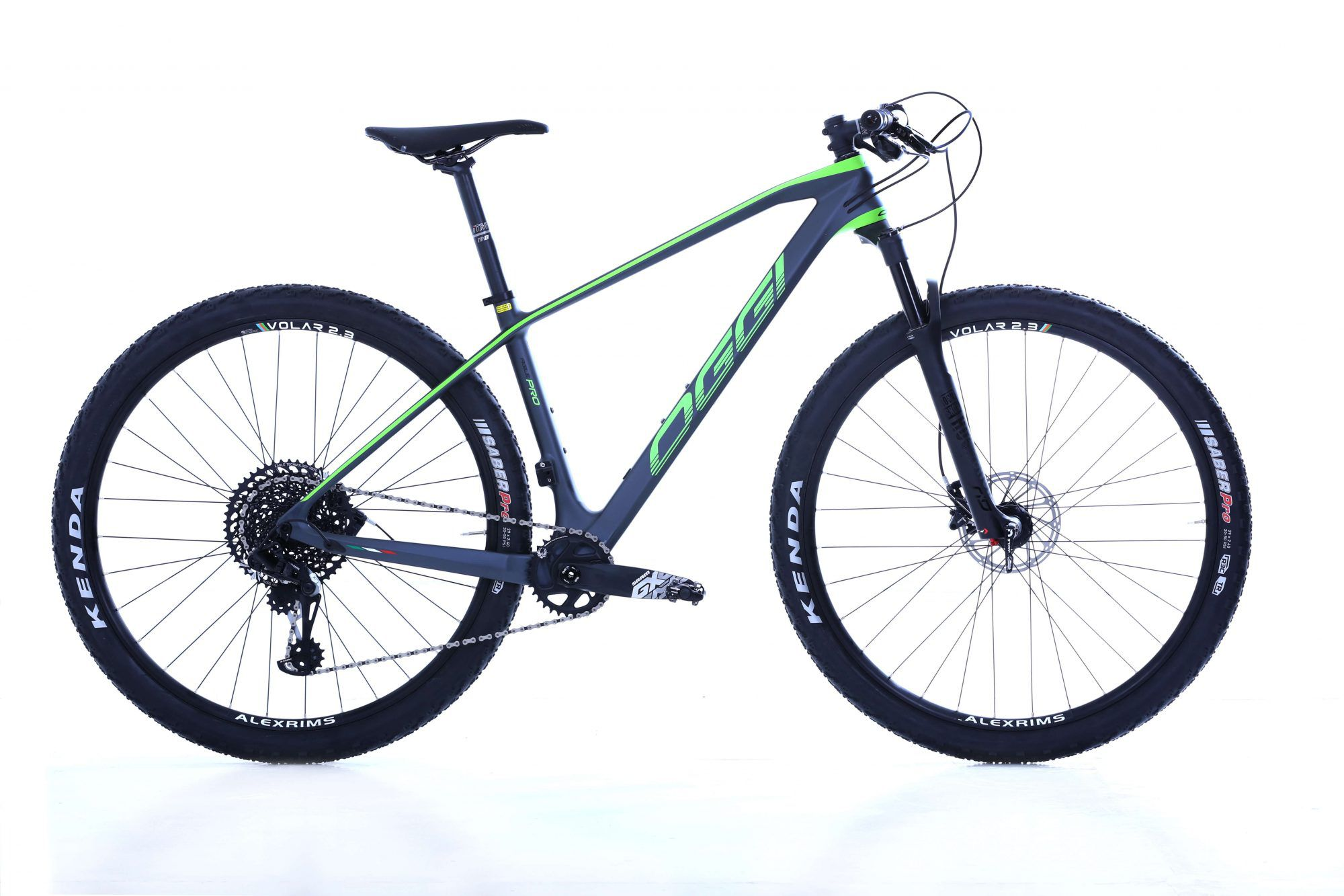 Bicicleta OGGI AGILE PRO CARBON 2019 SRAM GX 12V VERDE